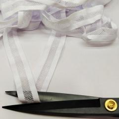 Ажурная резинка для нижнего белья, белая 2,5см (на метраж, кратно 1 м.) (657-Л-0724)