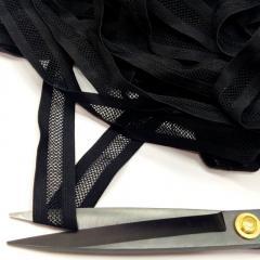 Ажурная резинка для нижнего белья, черная 2,5см (на метраж, кратно 1 м.) (657-Л-0725)