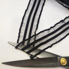 Ажурная резинка для нижнего белья, черная 4,5см (на метраж, кратно 1 м.) (657-Л-0728)
