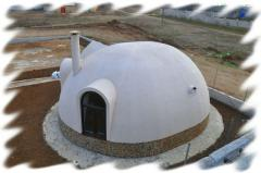 Dome houses on the Japanese technology, the