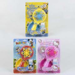 Мыльные пузыри с вентилятором 3 цвета, свет, звук,