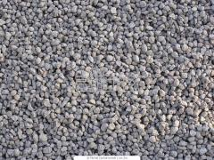 Gravel, crushed stone, sand artificial porous