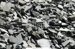 Granulated slag, gravel, crushed stone, sand