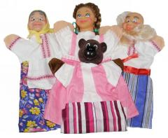 Puppets for a puppet theater