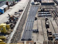 P50, P65 railroad switches of different brands