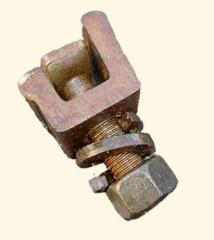 Bolts terminal for rail fastenings of railroad