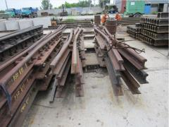 Component parts of railroad switches (crosspiece,