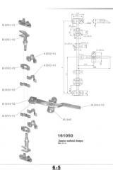 Lock of the rear doors 161050