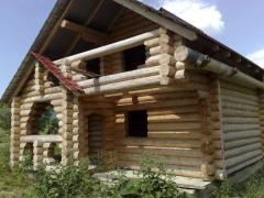 Wooden houses, arbors, baths, hotels