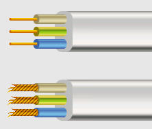 Wire for VVP1 and VVP2 electrical units