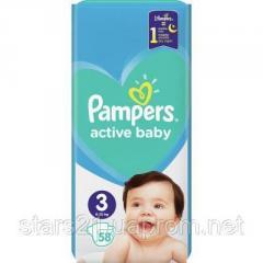 Подгузник Pampers Active Baby Midi Размер 3 (6-10