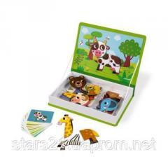 Развивающая игрушка Janod Магнитная книга Животные