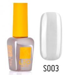 Гель-лак для ногтей LEO seasons №003 Плотный белый с серым оттенком (эмаль) 9 мл