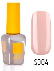 Гель-лак для ногтей LEO seasons №004 Плотный кремово-бежевый (эмаль) 9 мл