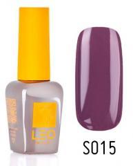 Гель-лак для ногтей LEO seasons №015 Плотный фиолетово-бежевый (эмаль) 9 мл