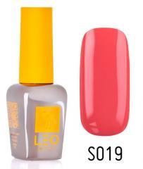 Гель-лак для ногтей LEO seasons №019 Плотный ярко-коралловый (эмаль) 9 мл