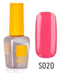 Гель-лак для ногтей LEO seasons №020 Плотный кораллово-розовый (эмаль) 9 мл