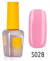 Гель-лак для ногтей LEO seasons №028 Плотный светлый розовый (эмаль) 9 мл