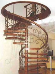 Лестницы винтовые кованые купить под заказ