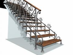 Лестницы кованые купить под заказ Украина