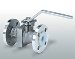 The flange spherical crane with lining of PFA the