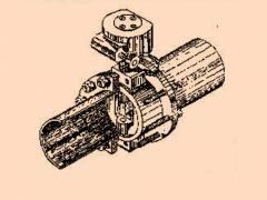 Затвор поворотный с ручным приводом, с патрубками