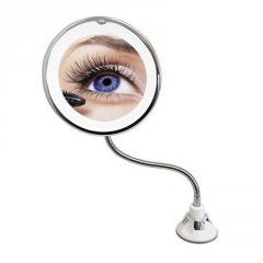 Гибкое зеркало на присоске с подсветкой с 5x