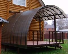 Canopies from polycarbonate of 6 mm 8 mm 10 mm.