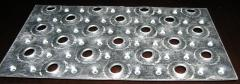Perforated sheet metal (punching blade) - production