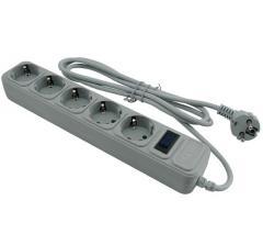 Сетевой фильтр Merilon G518 5 розеток 1.8 метра