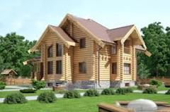Cottage construction, house country, wooden
