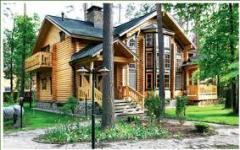 Silindire tomruklardan ağaç evler