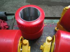 Covering polyurethane of shaft, rollers, wheels