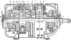Drive of the two-machine unit of MW / MVG