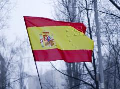Press of a flag of Spain
