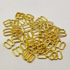 Золотой 0,8 см регулятор (МЕТАЛЛ) для бретелей бюстгальтера (восьмерка) (СИНДТЕКС-0286)
