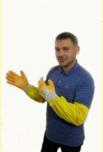 Gloves are beekeeping