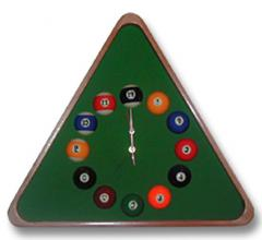 Wall clock on billiard subjec