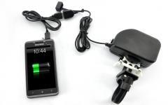 Велосипедное динамо, USB  зарядное устройство,