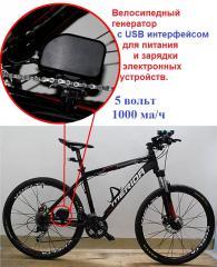 Велосипедное динамо и USB зарядное устройство,