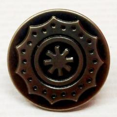 Джинсовая пуговица 17мм Блек никель (1000шт) (653-Т-0739)