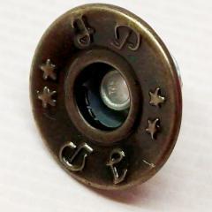 Джинсовая пуговица 17мм Блек никель (1000шт) (653-Т-0741)