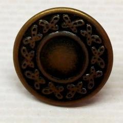 Джинсовая пуговица 17мм Антик (1000шт) (653-Т-0743)