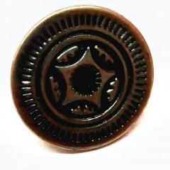 Джинсовая пуговица 17мм Блек никель (50шт) (СИНДТЕКС-0293)