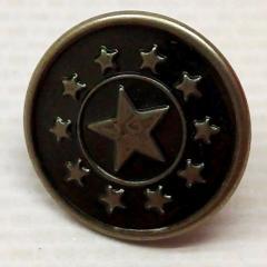 Джинсовая пуговица 17мм Блек никель (50шт) (СИНДТЕКС-0295)