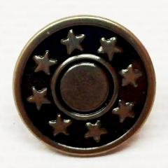Джинсовая пуговица 17мм Блек никель (50шт) (СИНДТЕКС-0297)