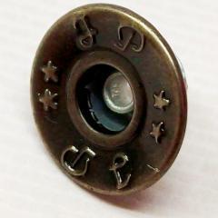 Джинсовая пуговица 17мм Блек никель (50шт) (СИНДТЕКС-0301)