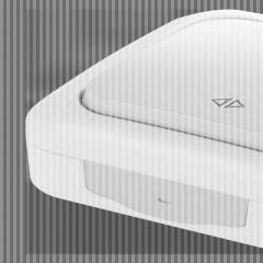 Выключатель перекрестный накладной серый Palmiye