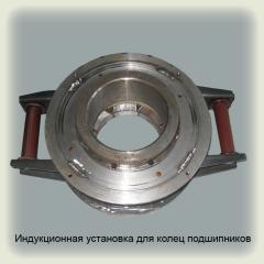 Induction installation for rings of bearings (an