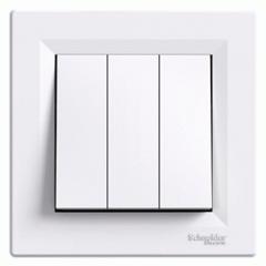 Выключатель 3-й Белый Asfora Schneider Electric,